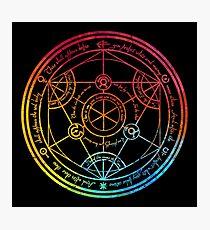 Human Transmutation Circle - Colorful Watercolor Photographic Print