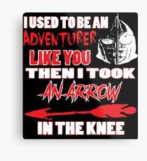 An Arrow In The Knee Metal Print