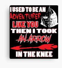 An Arrow In The Knee Canvas Print