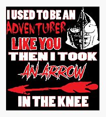An Arrow In The Knee Photographic Print