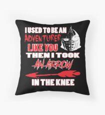 An Arrow In The Knee Throw Pillow