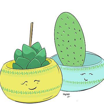 Happy Cactus pots by mO-Designs