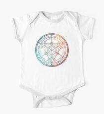 Space Nebula Human Transmutation Circle  One Piece - Short Sleeve