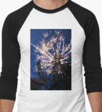 Firework Long Exposure Men's Baseball ¾ T-Shirt