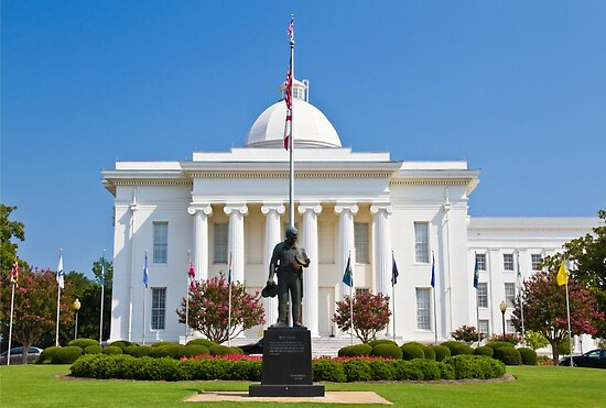 The Alabama state capitol building Montgomery, AL, USA.  by PhotoStock-Isra