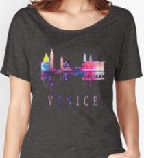 Venice skyline. Italy Women's Relaxed Fit T-Shirt