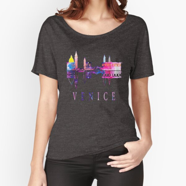Venice skyline. Italy Relaxed Fit T-Shirt