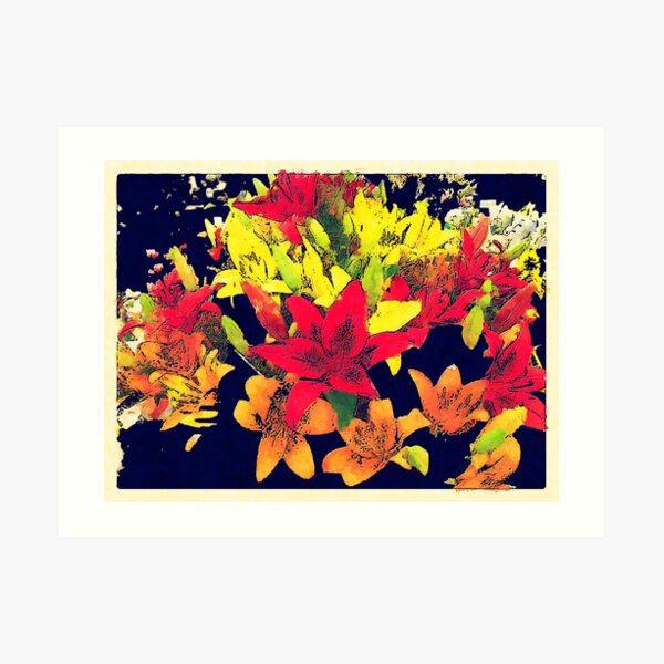 Large Bunch of Flowers Art Print