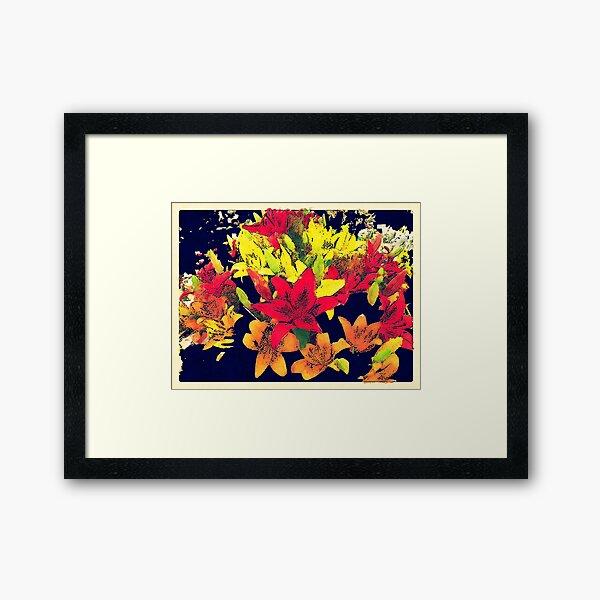 Large Bunch of Flowers Framed Art Print