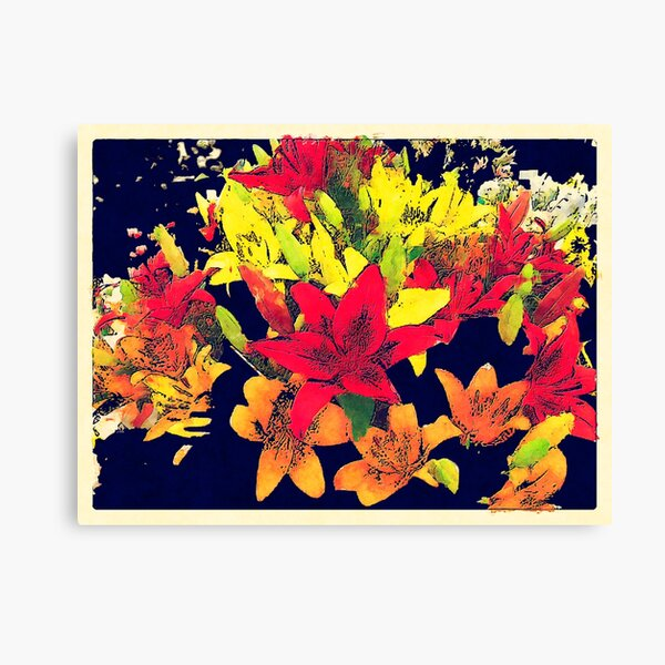 Large Bunch of Flowers Canvas Print