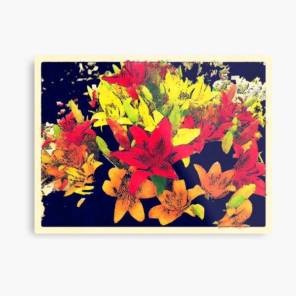 Large Bunch of Flowers Metal Print