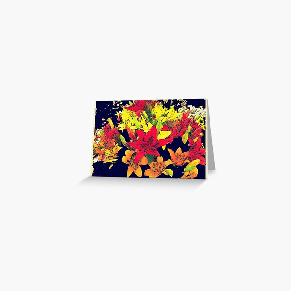Large Bunch of Flowers Greeting Card