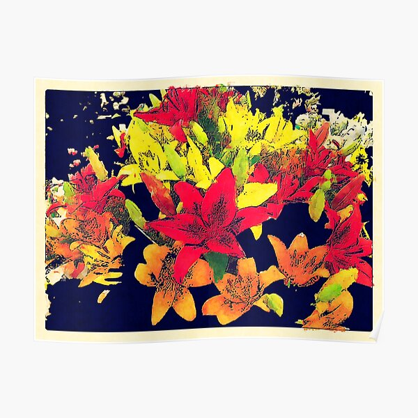 Large Bunch of Flowers Poster