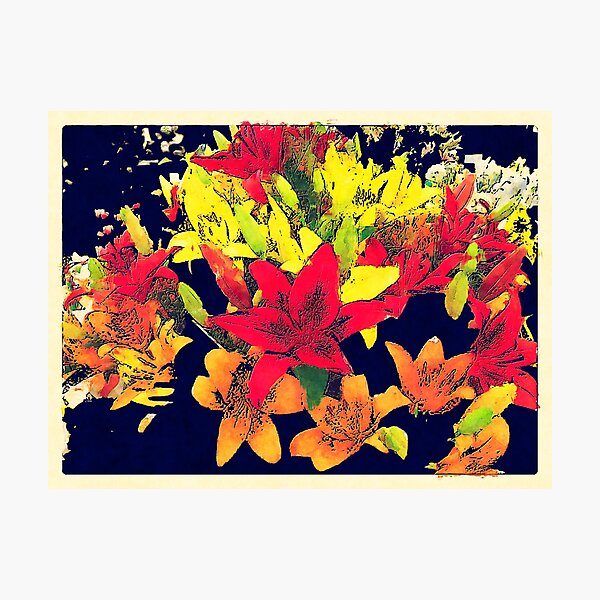 Large Bunch of Flowers Photographic Print