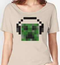 Minecraft Creeper Pixel Art Women's Relaxed Fit T-Shirt