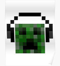 Minecraft Creeper Pixel Art Poster