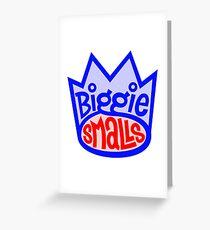 Biggie Smalls Crown Greeting Card