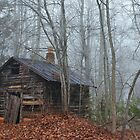 Old Smoke House in Fog by krishoupt