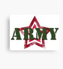 Military army red star Canvas Print
