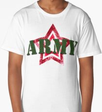 Military army red star Long T-Shirt