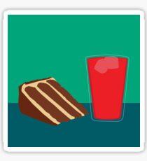 Peanut Butter Chocolate Cake with Kool-Aid Sticker