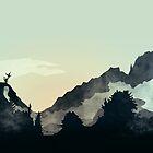 Misty Mountain by schwebewesen