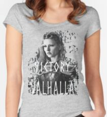 Lagertha: victory or Valhalla! Women's Fitted Scoop T-Shirt