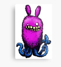 Creepy Octobunny Metal Print