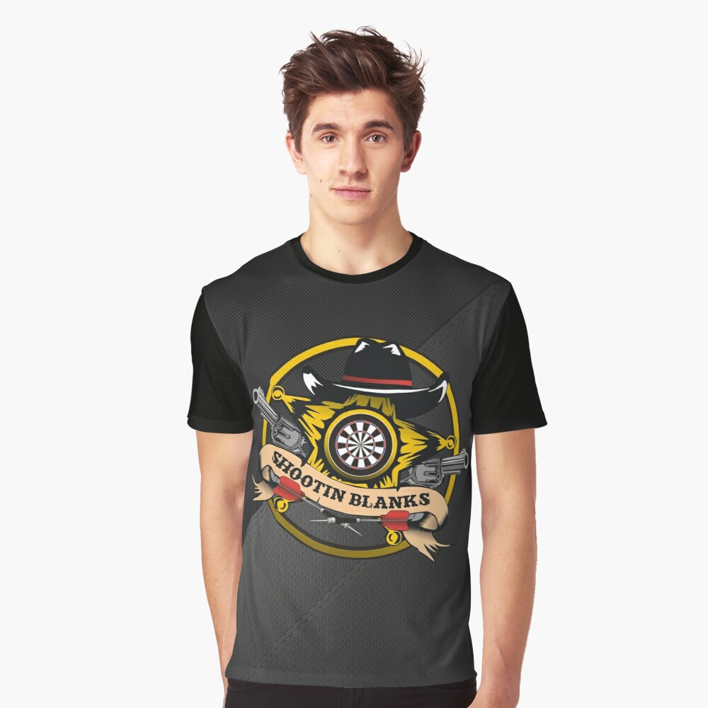 Shootin' Blanks Darts Team Graphic T-Shirt Front