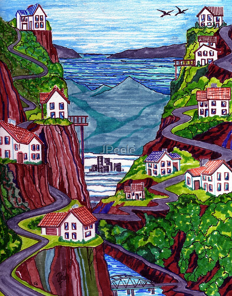 The California Cliff Dwellers by James Peele