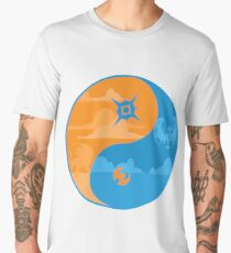 Sun and Moon Yin and Yang Color Men's Premium T-Shirt