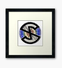 ''Capt.Scarlett' Logo, Distressed/shifted.' Framed Print
