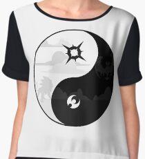 Sun and Moon Yin and Yang Chiffon Top