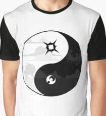 Sun and Moon Yin and Yang Graphic T-Shirt