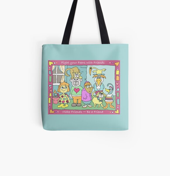 Make Friends - Be Friends All Over Print Tote Bag