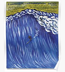 "Raymond Pettibon, ""No title (A reaction to) surfer"" , 2001 Poster"