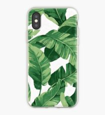 Tropical banana leaves II iPhone Case