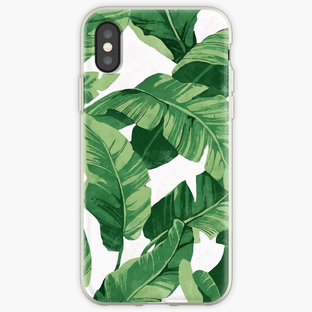 Tropical banana leaves II iPhone Case & Cover