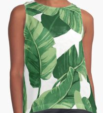 Tropical banana leaves II Contrast Tank