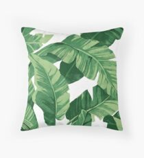 Tropical banana leaves II Throw Pillow