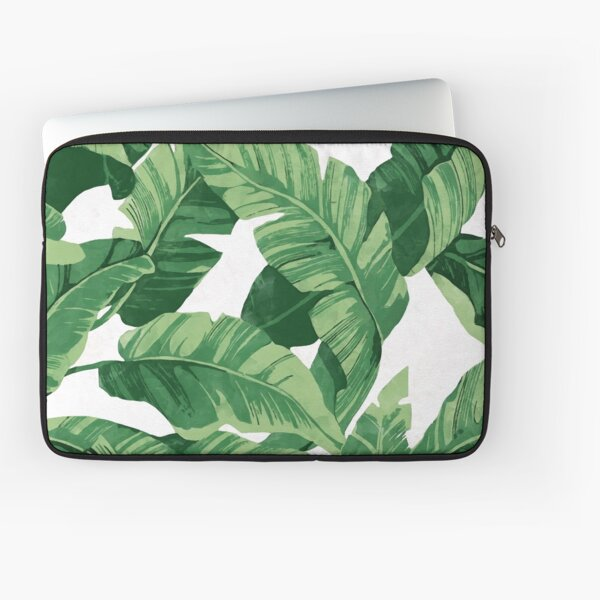 Tropical banana leaves II Laptop Sleeve