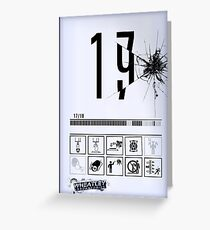 Wheatley Laboratories, Tall Test Chamber Sign Greeting Card