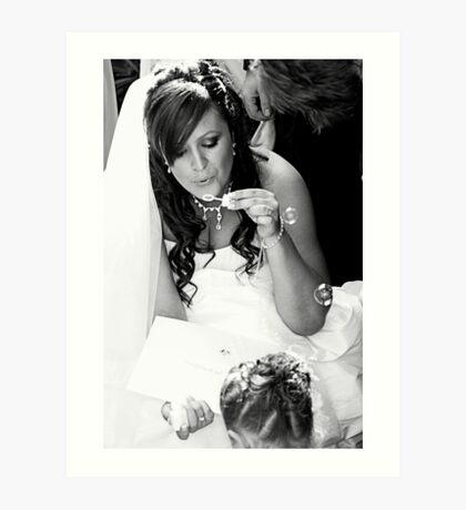contented bride Art Print