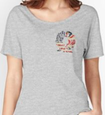 AMERICA BRITAIN WOLF LOVE Women's Relaxed Fit T-Shirt