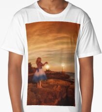 A little girl waiting with lantern Long T-Shirt