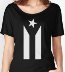 Puerto Rico Black & White Protest Flag Women's Relaxed Fit T-Shirt