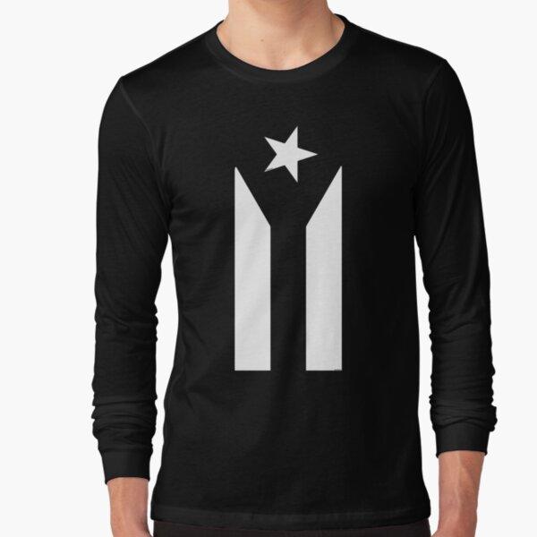 Puerto Rico Black & White Protest Flag Long Sleeve T-Shirt