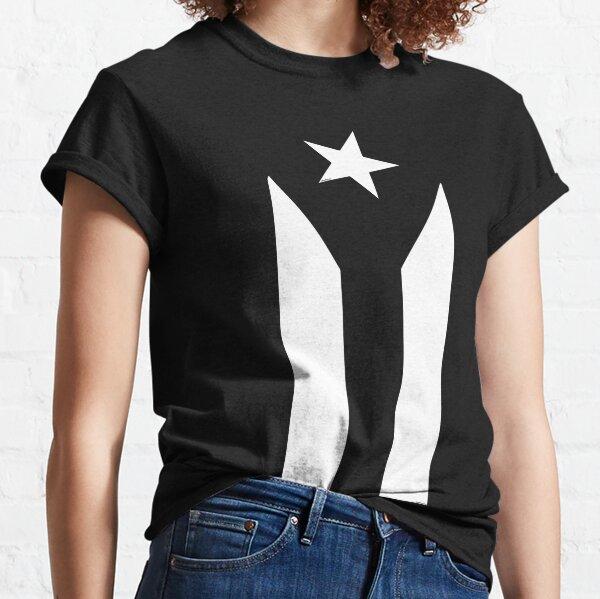 Puerto Rico Black & White Protest Flag Classic T-Shirt