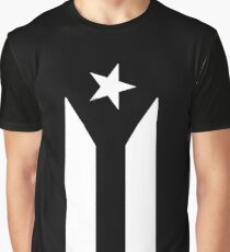 Puerto Rico Black & White Protest Flag Graphic T-Shirt