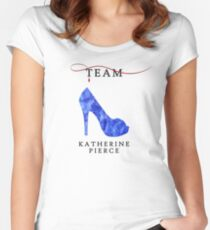 Katherine Pierce Team - The Vampire Diaries Women's Fitted Scoop T-Shirt